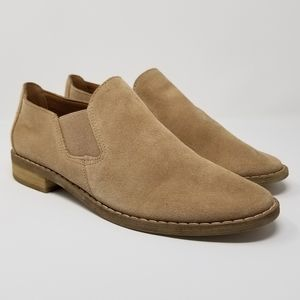 NWOB Crown Vintage Tan Suede Leather Boots 6.5